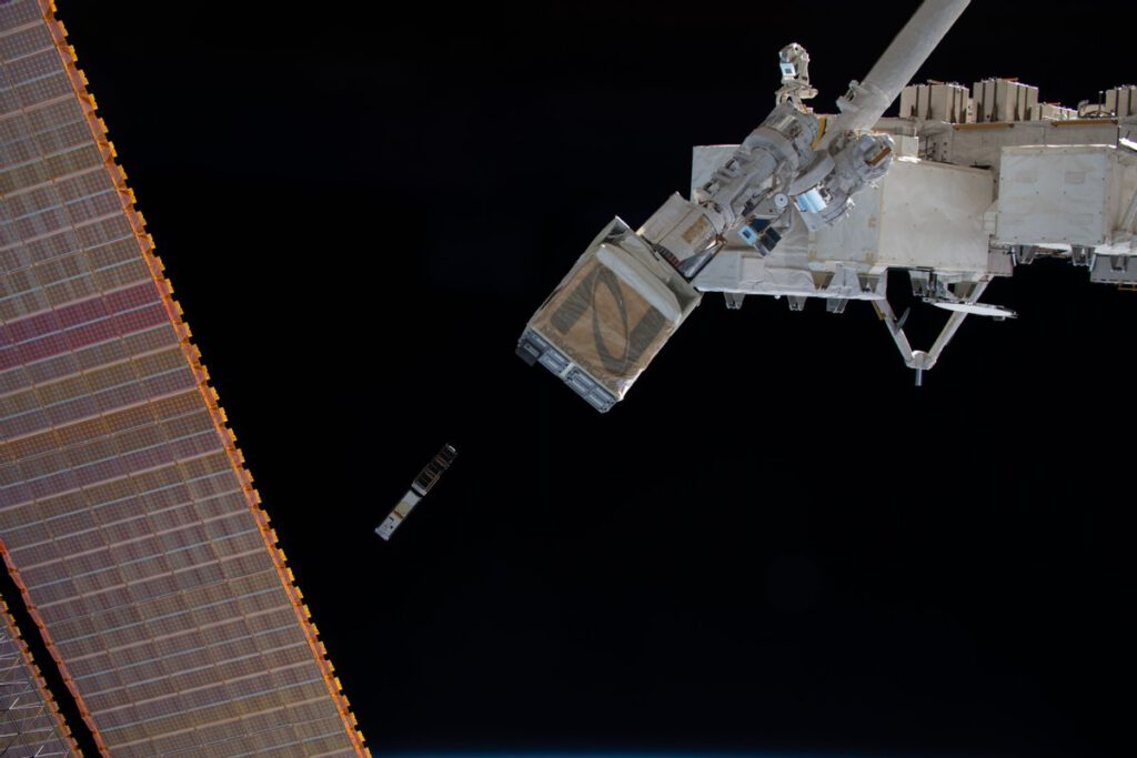 CubeSat deployment from ISS (source NASA)